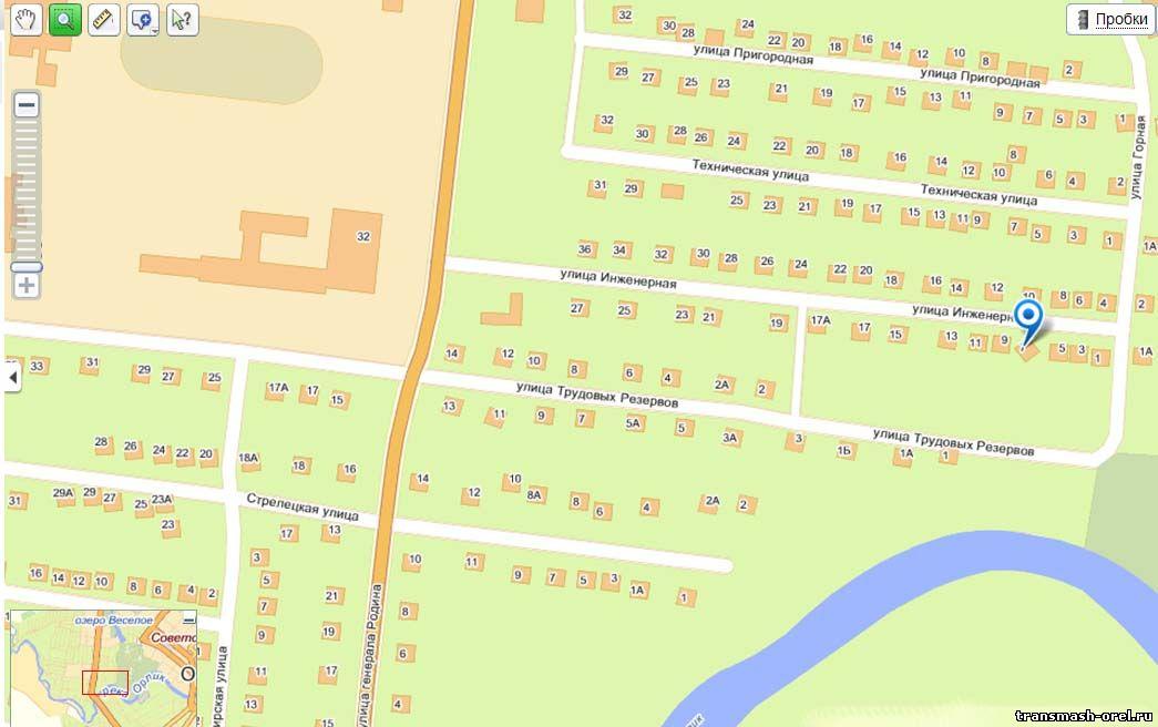 схема проезда к офису Трансмаш